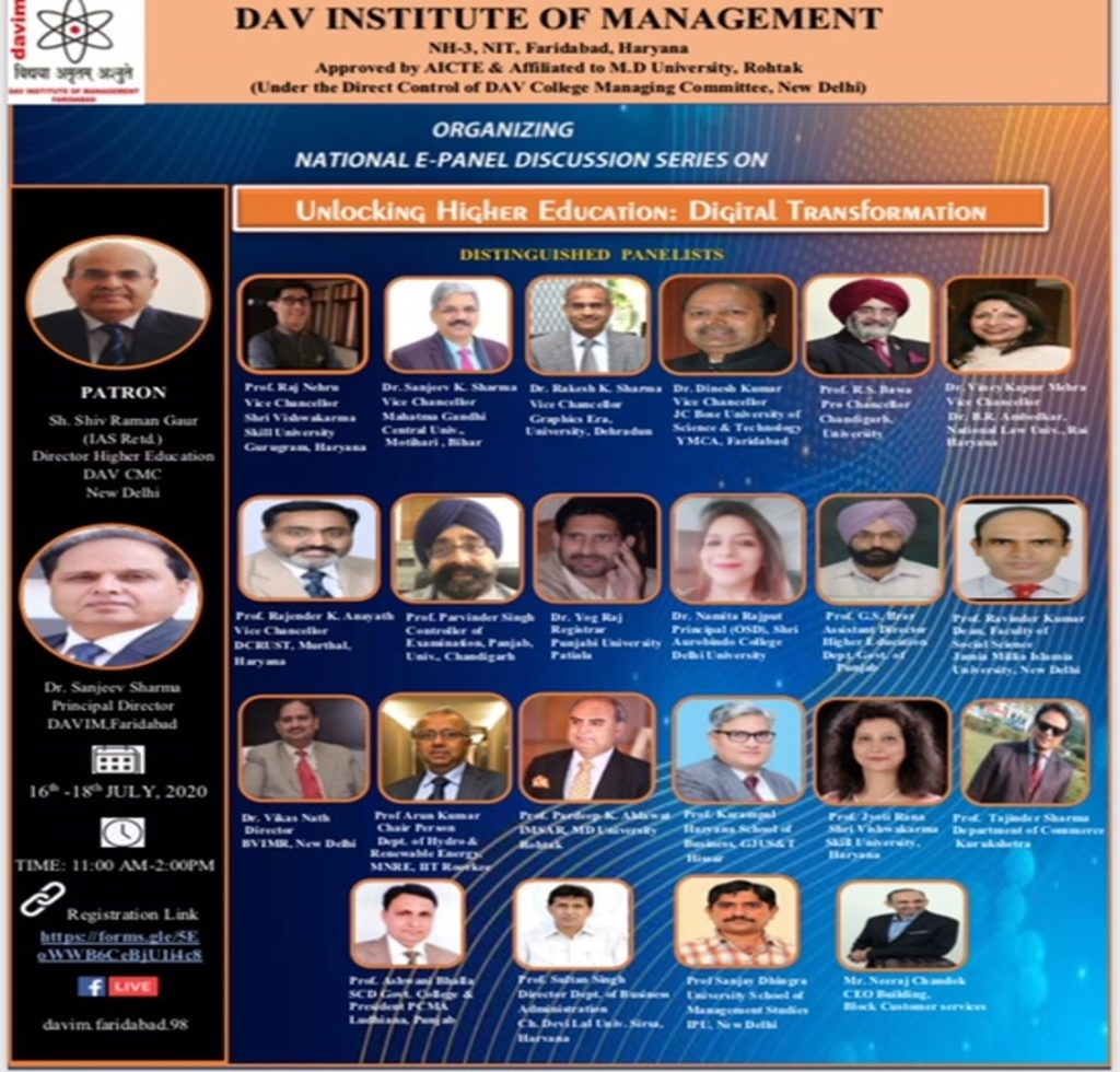 DAV INSTITUTE OF MANAGEMENT NATIONAL E PENAL DISCUSSIOn